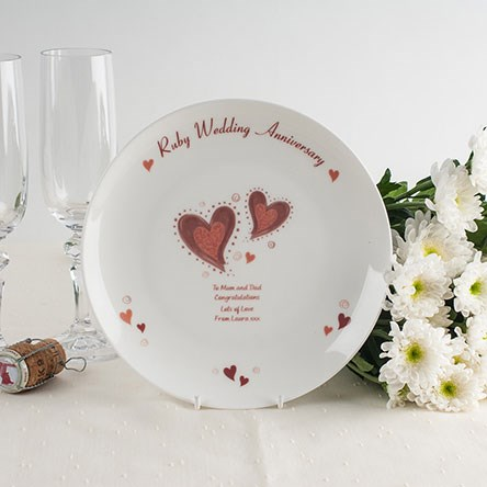 Ruby Wedding Anniversary Gifts Gettingpersonal Co Uk